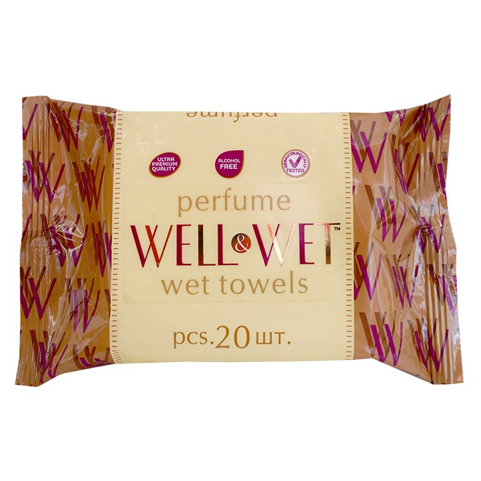 Well&Wet Gold, 20 шт